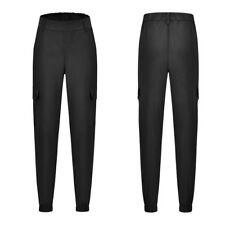 Women Cargo Pants High Waist Jogger Skinny Trousers Side Pockets Sweatpants USA