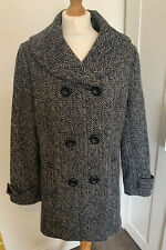 AUTONOMY WOOL BLEND COAT SIZE 14 Ex Cind Womens Double Breasted Chevron