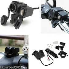 Motorcycle Waterproof Charger GPS Cigarette Lighter USB Outlet Socket
