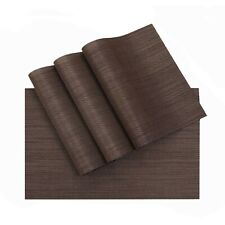 New listing Kitchen Table mats Placemats Washable Vinyl Woven Table Mats Dining Table Set.