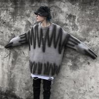 Niepce Spray Paint Wool Knit Sweater Winter Unisex Crewneck Streetwear Pullover
