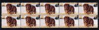 NEWFOUNDLAND 2006 YEAR OF DOG STRIP OF 10 MINT VIGNETTE STAMPS