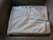"BRIGHT FUTURE BABY BLANKET LOVEY blue moon stars 30X40"" SILKY SATIN"