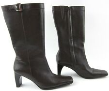 New! Etienne Aigner 'Magnet' Mid Calf Leather Boots Chocolate Brown 8.5M