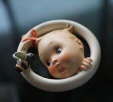 "Vintage Hummel Goebel Lullaby Baby & Bee wall plaque 5"""