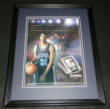 Shane Battier 2001 Casio Cassiopeia Framed 11x14 ORIGINAL Advertisement Duke
