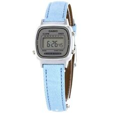 Casio LA670WL-2A Ladies Classic Blue Leather Digital Watch Alarm NEW