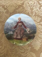 Sound of Music Knowles collectors plate Julie Andrews vtg 1986 first decor Hills