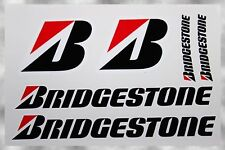 BRIDGESTONE TIRES MOTOGP WSBK FENDER SWING ARM MOTORBIKE DECALS SET