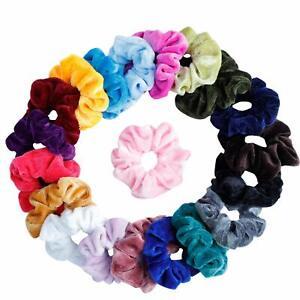 20 Pack Women Girl Hair Scrunchies Velvet Elastic Hair Bands Scrunchy Rope Ties