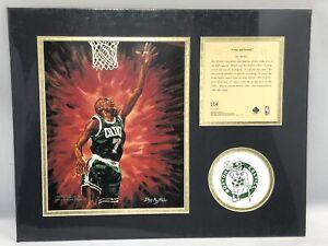 1995 Dee Brown Boston Celtics NBA Matted Kelly Russell Lithograph Art Print #104