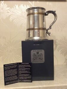 A. E. Williams Pewter Tankard. NEW. x2 Minor Dents See Photos