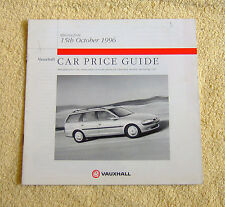 Vauxhall Car Price Guide 15th October 1996, Corsa, Astra, Vectra ST, Calibra