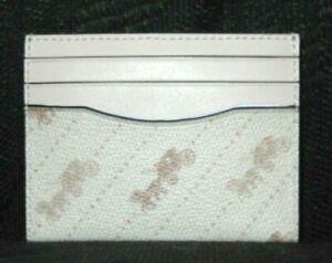 Coach C4287 Slim ID Card Case Chalk Canvas Horse & Carriage NWT $78