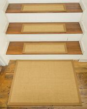"""Monterrey 100% Sisal Carpet Stair Treads  9""""x29"""" Set of 13 w/ Landing Mat"""