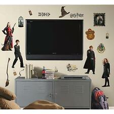 HARRY POTTER wall stickers 30 decals Ron Hermione Hogwarts Wizards scrapbook