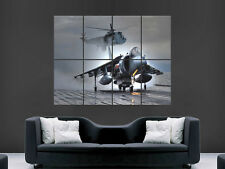 HARRIER JET GRMK 7 AEROPLANE  ART WALL PICTURE POSTER  GIANT