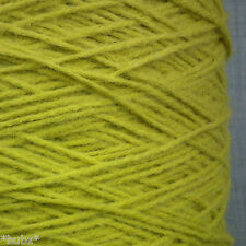 SOFT WOOL BLEND DK YARN - 500g CONE 10 BALL - APPLE / LIME GREEN DOUBLE KNITTING