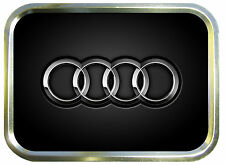 AUDI RINGS  2oz GOLD TOBACCO TIN,PILLTIN,STASH CAN,BACCY TIN,BAIT TIN