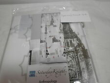 New Saturday Knight ANTHROPOLOGY Peva Shower Curtain ~ New York London Paris
