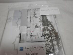 New Saturday Knight ANTHROPOLOGY Peva Shower Curtain ~ New York London Paris