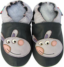 shoeszoo donkey dark blue 12-18m S soft sole leather baby shoes