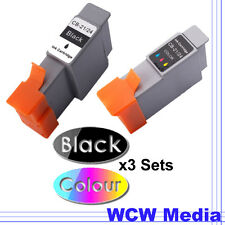 3 Sets Ink Cartridges for Canon BCI-24C S200 i250 i320