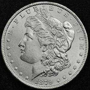 1879-o Morgan Silver Dollar.  Full Chest Feathers.  B.U.  (Inventory A)