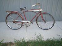 Vtg 1960's? Original JC Higgins Mens Boys Bicycle with Tank Head Light.