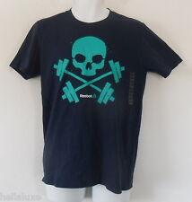 NWT~Reebok BARBELL SKULL TEE one Running Cross Training Gym fit Shirt~Men sz Med