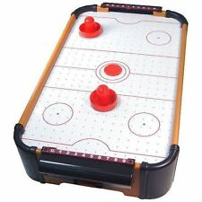 MINI TABLE TOP AIR HOCKEY GAME KIDS ACTIVITY FUN GAMES SET XMAS GIFTS