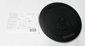 "Hubbell S1R6CVRBLK Poke-Through Cover, 6"", Black, Aluminum"