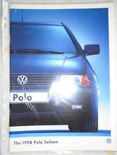 VW Polo Saloon range brochure 1998 model year pub May 1997