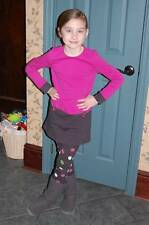 GYMBOREE Merry & Bright 7 Pink Charcoal Gray Color Block Dress Polka Dot Legging