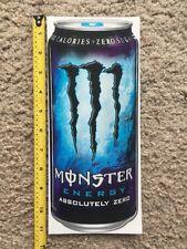 """Monster Energy Absolutely Zero Logo Can 11"""" Sticker Decal Sponsor Sheet Kit"""