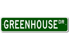GREENHOUSE Street Sign - Personalized Last Name Signs