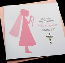 Personalised Handmade Girls 1st Holy Communion Confirmation Card