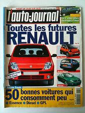 L'AUTO-JOURNAL du 1/1998; Les Futures Renault/ 50 Bonnes voitures qui consomme -