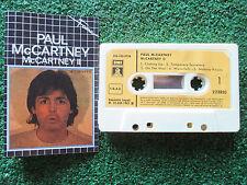 "PAUL McCARTNEY **McCARTNEY II** VERY RARE ""Fama"" ISSUE CASSETTE Spain NO LP"