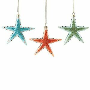 Department 56 Gone to The Beach - Spotted Starfish Ornament Set Of 3 Retired