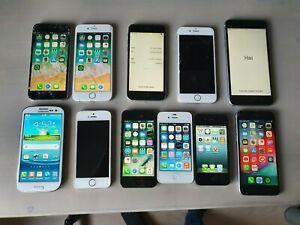 Iphone lot of 11 Iphone 6s, 6s plus, 6, 5s, 5, 4s, 4, samsung galaxy 3 unlocked