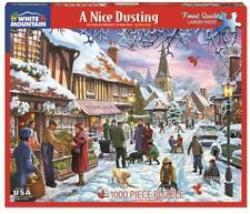 WHITE MOUNTAIN JIGSAW PUZZLE A NICE DUSTING STEVE CRISP 1000 PCS WINTER #1342