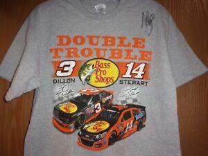 #3 Ty Dillon & #14 Tony Stewart T-Shirt NEW Tony Stewart AUTOGRAPHED!!