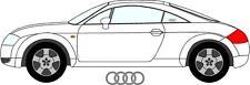 2 x Audi TT Rear Quarter Window Etched Glass Decal Sticker Graphic .
