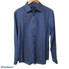 Charles Tyrwhitt Weekend Blue Navy Extra Slim Fit Cotton Men's Dress Shirt M