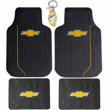 New Black Gold Bowtie Elite Rubber Floor Mats Car Truck SUV for Chevrolet Chevy