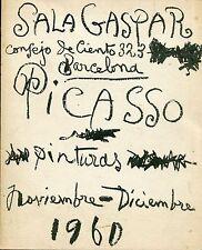 PICASSO Pablo, 30 cuadros inéditos 1917-1960. Sala Gaspar 1960