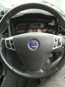 STEERING WHEEL SAAB 9-3 MK2  2003 TO 2012 VECTOR SPORT WITH AIRBAG AND SWITCHES