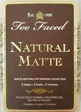 Too Faced NATURAL MATTE Neutral Eye Shadow Palette LIMITED EDITION eyeshadow