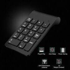 Wireless USB 18 Key -Black- Number Pad Keyboard Numeric Silent Keypad 10 Ten Key